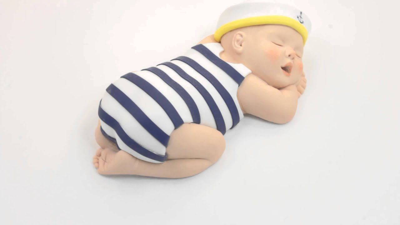 Sailor Baby Cake Topper Nautical Baby Shower by lil sculpture