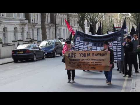 Kilburn Job Centre protest 3/4/17 ' Demonstrate and Commemorate'