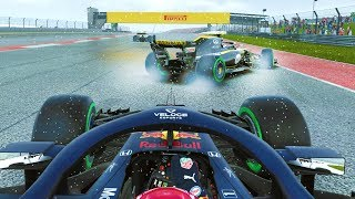 CONTROVERSY BETWEEN TEAM-MATES! TENSE RACE! - F1 2018 Career Mode Part 123
