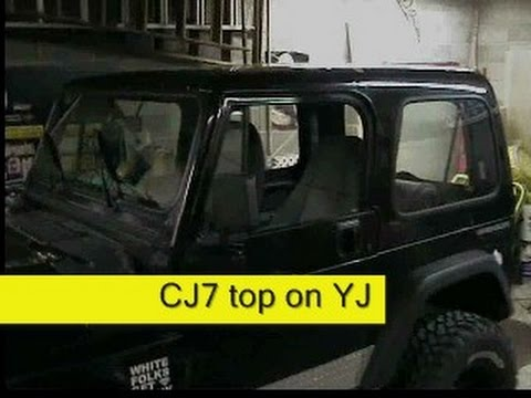 Jeep Cj7 Hard Top On A Jeep Wrangler Yj How To Diy Youtube