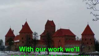 National anthem of Soviet socialist republic of Lithuania. . English subs.
