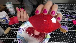 how to make GLITTER acrylic keychains, glitter keychain tutorial