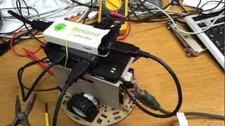 Arduino MK802 Based Mobile Web Server Robotic Platform Controlled via javascript with node.js