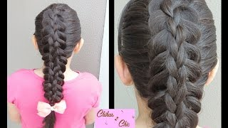 Split-Stacked Braids (Super Easy Technique!!) | Braided Hairstyles