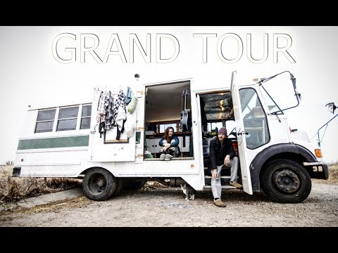SHORT BUS CONVERSION TINY HOUSE TOUR!