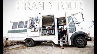 SHORT BUS CONVERSION TINY HOUSE TOUR!