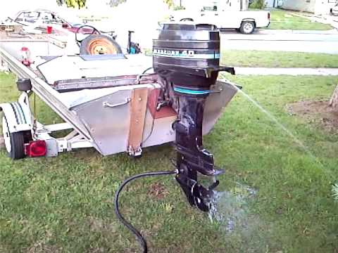 1980 Mercury 40 Hp Outboard 1980 Fisher Marine Bass Boat