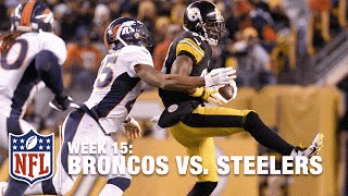 Tip Drill: Antonio Brown Tips Deflected Pass to Himself! | Broncos vs. Steelers | NFL
