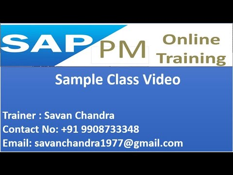 SAP PM Online Training | Sample Class Video - Equipment Master