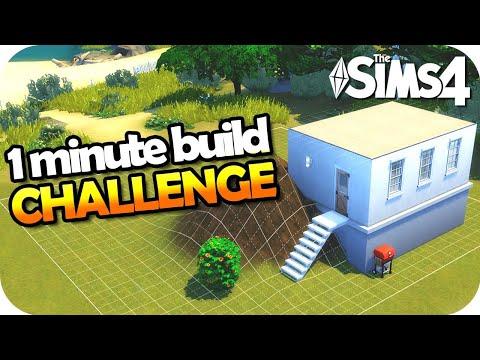 The Sims 4 Challenge - CONSTRUYE EN 1 MINUTO 😱🆘🚧 #1MinuteBuild thumbnail