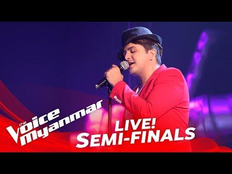 "Mark Jason: ""အခ်စ္ဆံုး"" - Live Semi-Final - The Voice Myanmar 2018"
