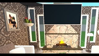 How to put a TV on a FIREPLACE in Roblox, Bloxburg!