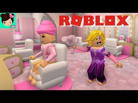 Jugando En Salon De Belleza De Rapunzel Roblox Salon Y Spa