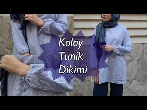 65e30ebad441b Kolu Büzgülü Kolay Tunik Dikimi - YouTube