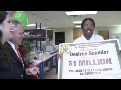 PCH October 23rd $1 Million Winner Desiree Scudder