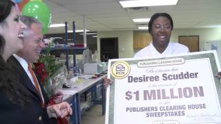 PCH October 23rd $1 Million Winner Desiree Scudder