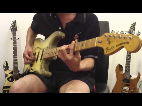 1979 Fender stratocaster antigua Sound test (Clean Sound)