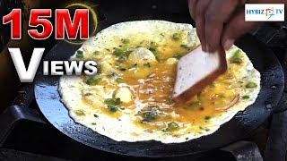 Bread Omelet Hyderabad Street Food | Hybiz.TV