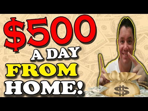 Make $500 a Day Online by CLICKING A BUTTON! (100% REAL!) Work FROM Home!