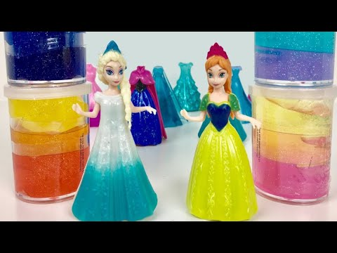 Thumbnail: Glitter Putty ! Elsa & Anna toddlers Videos Frozen Parody with Magiclips dolls Slime