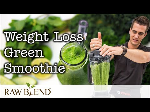 How To Make A Weight Loss Green Smoothie In A Vitamix Blender Recipe Video Youtube