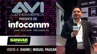 Visita a Shure durante  InfoComm Orlando 2019