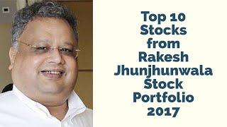 Top 10 Stocks from Rakesh Jhunjhunwala Stock Portfolio 2017