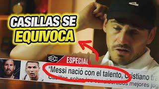 Cristiano Ronaldo SUPERÓ al TALENTO NATURAL de Messi - Iker Casillas entrevista ESPN