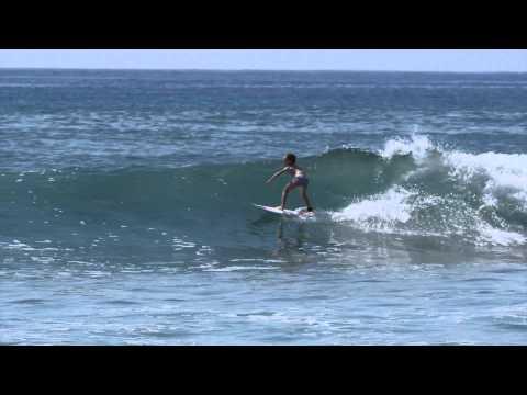 Sierra Kerr surfing girl age 8. Josh Kerr daughter surfing Mexico