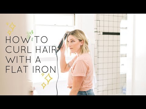 HOW TO CURL HAIR WITH FLAT IRON | EASY BEACH WAVES | KLSD