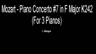 Mozart Piano Concerto No. 7 in F Major (for three pianos) - I. Allegro K242