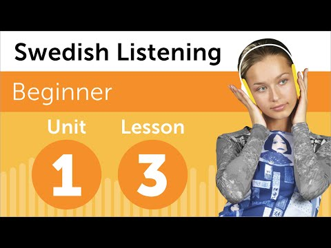 Swedish Listening Practice - Getting Some Groceries in Sweden