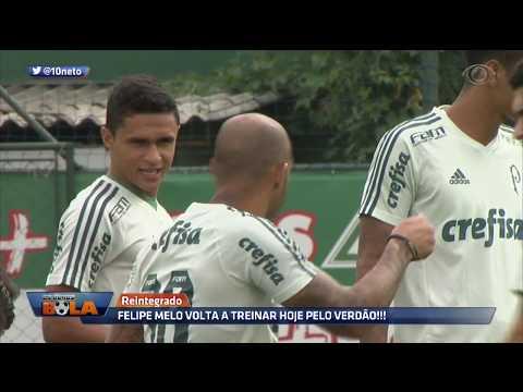 Reintegrado, Felipe Melo Volta A Treinar Pelo Verdão