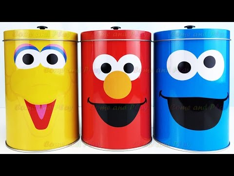 Sesame Street Candy Surprise Toys Big Bird Elmo Cookie Monster Disney Learn Colors Play Doh Balls
