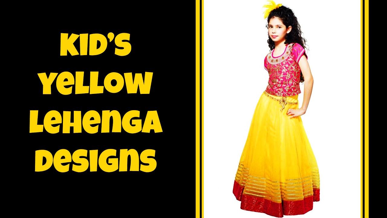 Kid S Yellow Color Lehenga Designs Youtube