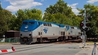 HD Doppler Effect from an Amtrak Train in Ashland, MA