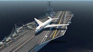 Landing HUGE Planes On An Aircraft Carrier