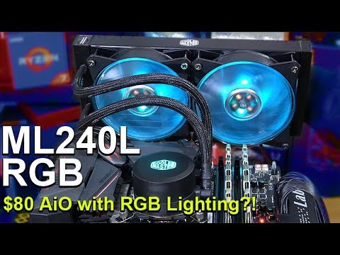 $80 Liquid Cooler with RGB Lighting? -- Cooler Master MasterLiquid ML240L RGB