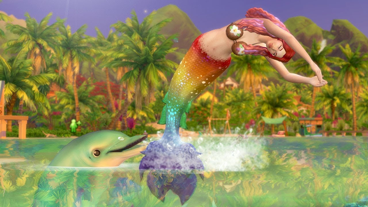 First Look at Mermaids (Fish People) in The Sims 4: Island