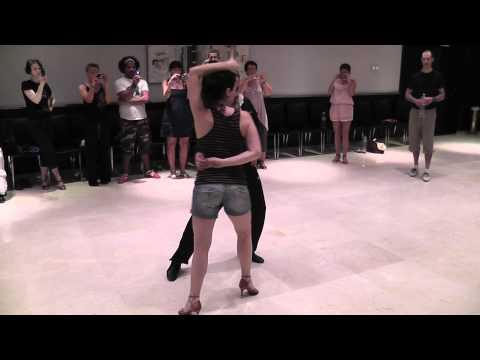 Mauro & Evas Advance Crossbody Salsa Lesson at Malaga 2011 no music