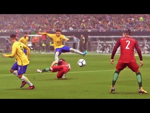 PROFISSIONAL: BRASIL X PORTUGAL - Pro Evolution Soccer 2018 (PES 2018)