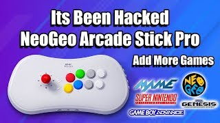 Its been Hacked! Neo-Geo Arcade Stick Pro Add More Games.