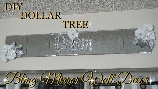 DOLLAR TREE DIY GLAM MIRROR WALL ART DECOR | DIY HOME DECOR 2018
