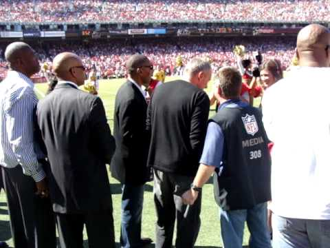 San Francisco 49ers Alumni Day. Hall of Famers Joe Montana, Steve Young, Roger Craig
