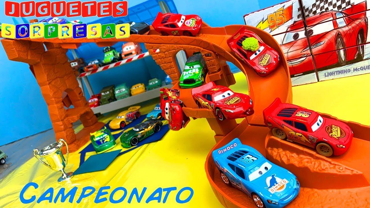 49e8bc50e DISNEY CARS RAYO MCQUEEN 6 PACK CAMPEONATO Carros de Carrera para niños  Pista de Coches CARS 3
