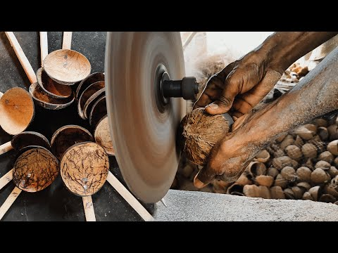 🥄 How To Make Spoon From Coconut Shell   💡 Coconut Shell Craft Ideas