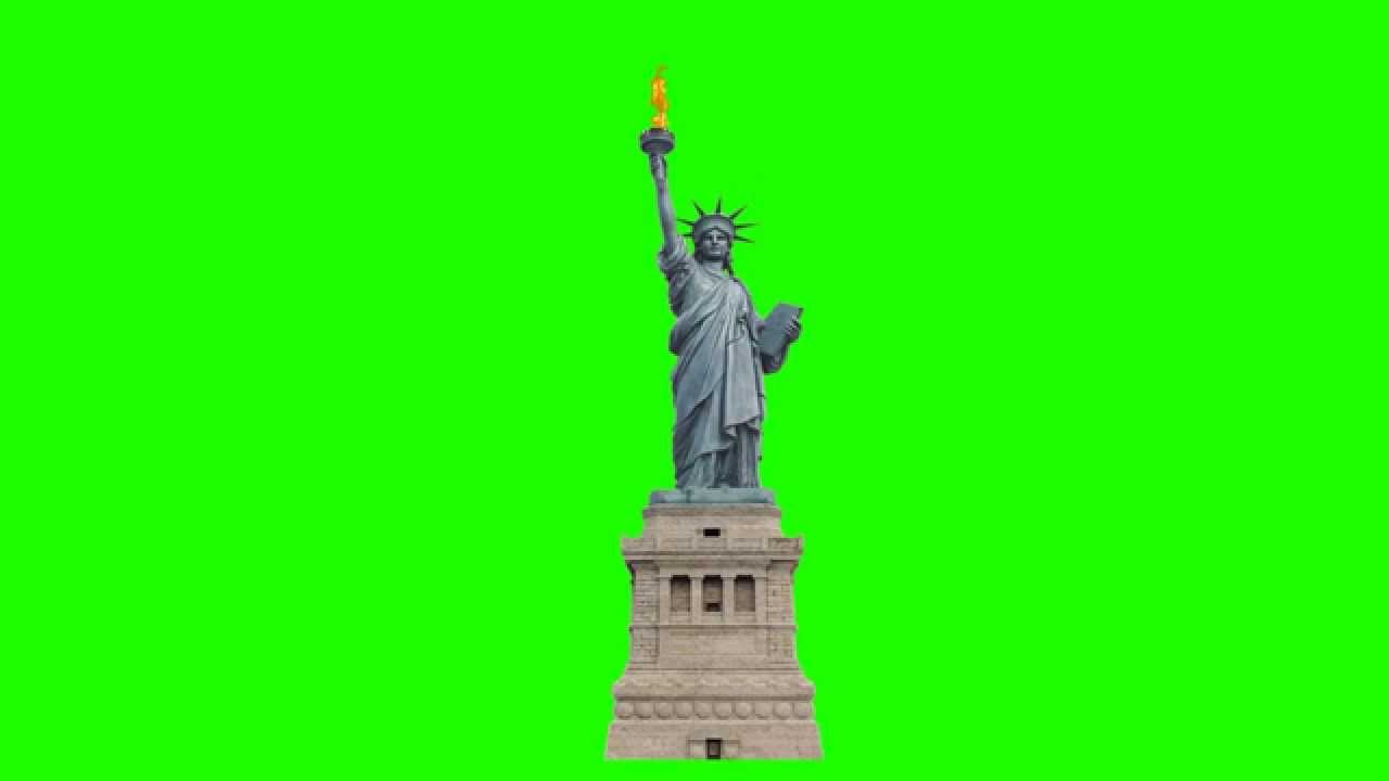 statue of liberty in green screen free stock footage - YouTube