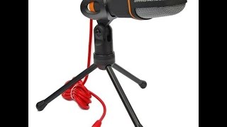 Professional Condenser Sound Microphone With Stand for PC Laptop Skype Recording