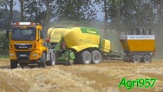 THE KING of BALING: MAN TGS 18.5 480 + KRONE BIGPACK 1290 HDP II XC + QUADRO PAC V | DE Tour