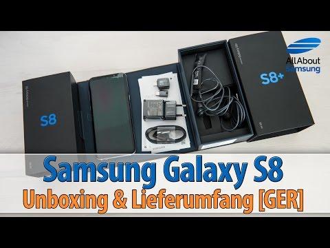 Samsung Galaxy S8 Unboxing und Lieferumfang deutsch/GER 4k